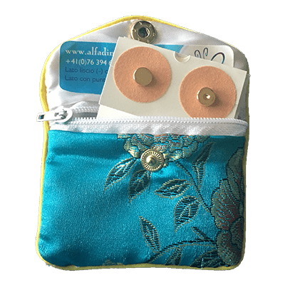 set tascabile da 4 magneti dorati