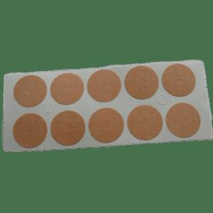 Cerotti-Anallergici-100 cerotti anallergici rotondi color pelle da 22 mm ognuno