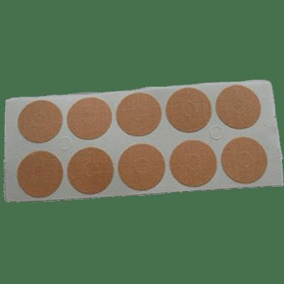 sparadraps hypoallergéniques-100 sparadraps hypoallergéniques ronds couleur peau de 22 mm