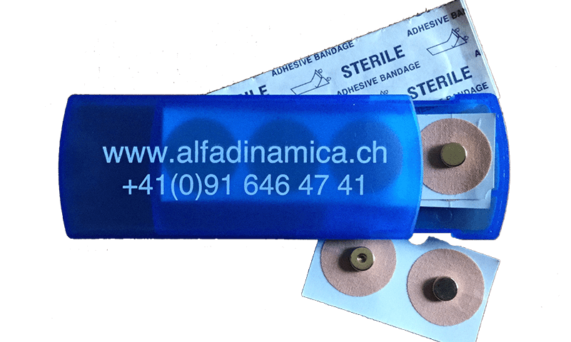 Set tascabile di 4 Magneti dorati