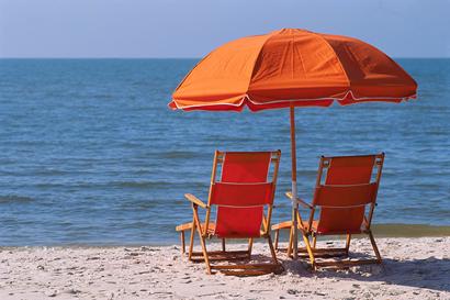 protezione solare naturale, spiaggia, sole, mare