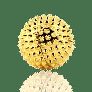 boule magnétique de massage dorée avec 88 pointes