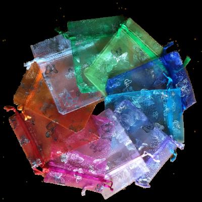 10 sachets organza colorés
